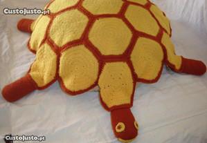 Almofada em forma de Tartaruga -Anos 70- Artesanal
