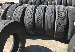 4 pneus 315/80R22.5 tração rechapados