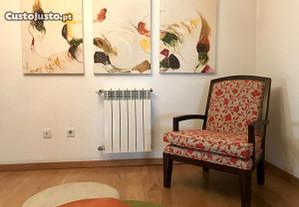3 quadros (telas) pintados em acrílico