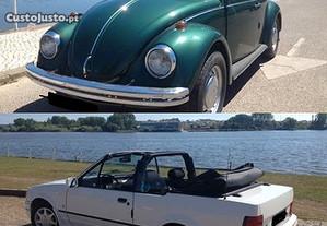 VW Carocha e Ford Escort Cabrio para festas