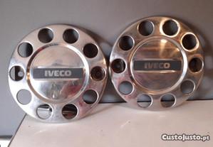 Tampões em inox rodas frente Camioes IVECO