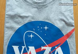 T-shirt Vaza cinza/azul, original, nova, tamanho M