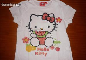 T´Shirt Hello Kitty 3-4 Anos Super Barata