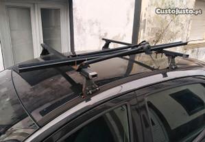 Barras tejadilho suporte bicicleta