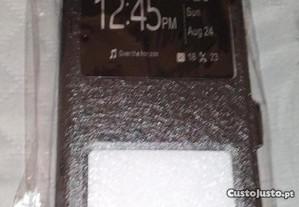 Flip Cover Couro Preto Xiaomi MI 8 Lite 6.26