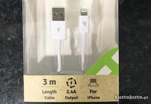 Cabo carregador lightning iPhone/iPad - 3 METROS