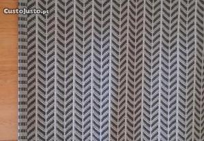 Carpete Beige e Preta 200x250 cm
