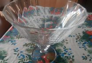 taça grande em cristal, 25 - 27 cm, nova