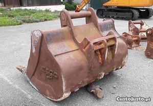 Balde p escavadora de Engate 1 Cavilha e 2 Pistons