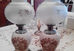Candeeiros Porcelana Antigos (35 anos)