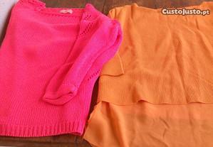 2 camisolas malha algodão M