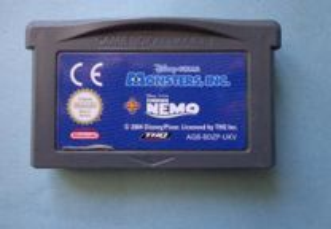 Jogo Game Boy Advance - Monster Inc + Finding Nemo