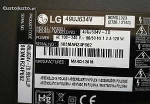 Tv lcd Peças LG 49UJ634V