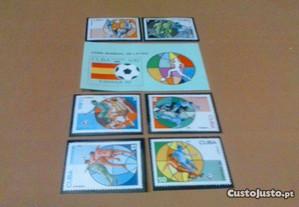 Filatelia-6 Selos Série Compl+Bloco-Cuba-España 82