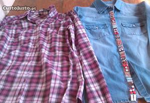 Camisas Bennetton e ganga S