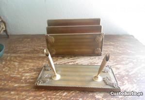 conj de escritorio vintage , plastico
