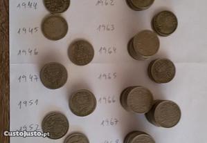 Moedas 50 centavos (Alpaca) de 1928 a 1959