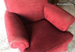 Sofá individual antigo (senhorinha)