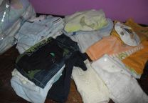 lote de roupa 50 peç bebe 0 aos 3 meses