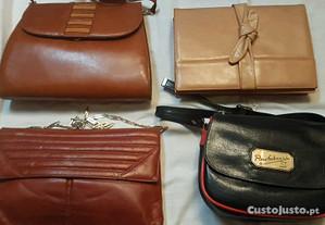 carteiras em pele de qualidade (usadas)