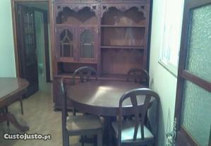 Sala de jantar móvel, mesa,e seis cadeiras