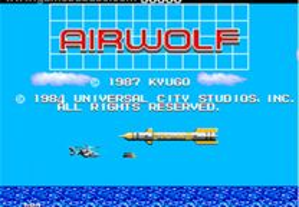 Jogo ano 1984 Airwolf super Helicopter