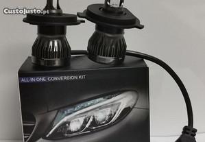 Kits lâmpadas led H4- 120W ( Canbus, MINIS, NOVAS