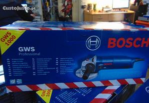 Rebarbadora Bosch GWS 1000 de 1000W e disco 115 ou