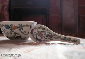 Malga e colher em porcelana da China