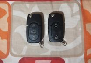 Carcaça capa comando chave audi vw cr1616