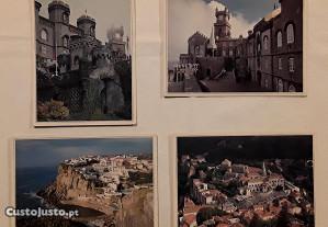 Conjunto de 4 postais de Sintra