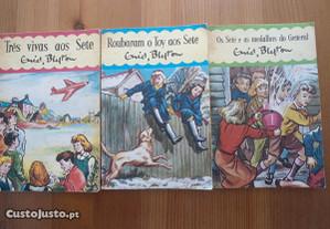 3 Livros de Os Sete de Enid Blyton (anos 60)