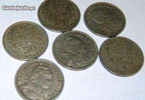 Moedas de 50 centavos, Alpaca, 1928 1947