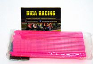 Capas de raios moto enduro motocross rosa