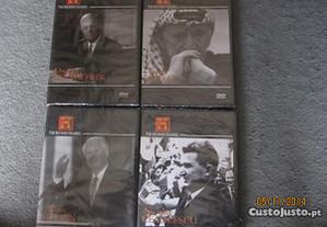 4 DVD's de 4 lideres da História mundial