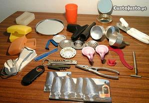 Vários utensílios para a casa