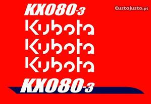 Autocolantes Kubota KX080-3