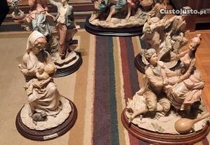 Estatuetas antigas em marfinite 1 com 9 kgs