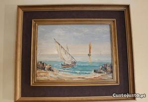 Pintura de M. Barbosa Óleo s Madeira