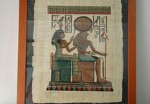 Quadro com papiro egipcio