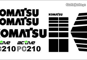 Autocolantes retroescavadora Komatsu