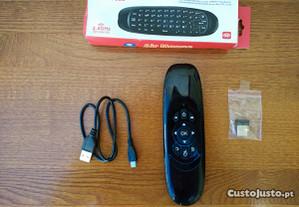 Comando Air Mouse android windows smart tv wifi