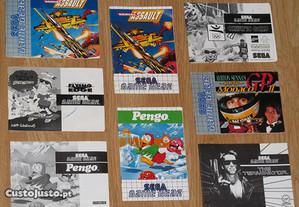 Game Gear: Manuais de jogos