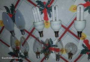 Lampadas E14 / E27 brancas / amarelas