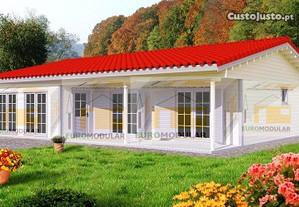 Casa de madeira pre-fabricada, T3 modelo Coimbra