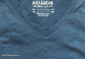 T-shirt Pull & Bear, original, nova, tamanho M