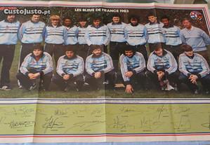 Poster 1983, autografado, Des Bleus de France