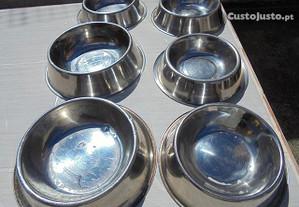 Seis taças para alimentação animais / cães