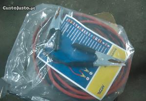 Jogo de Cabos de Baterias 25mm 3,5mts de 400 Amper