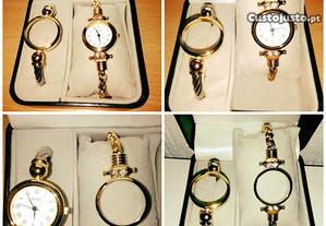 Relógio de pulso senhora c/ duas braceletes. Novo!